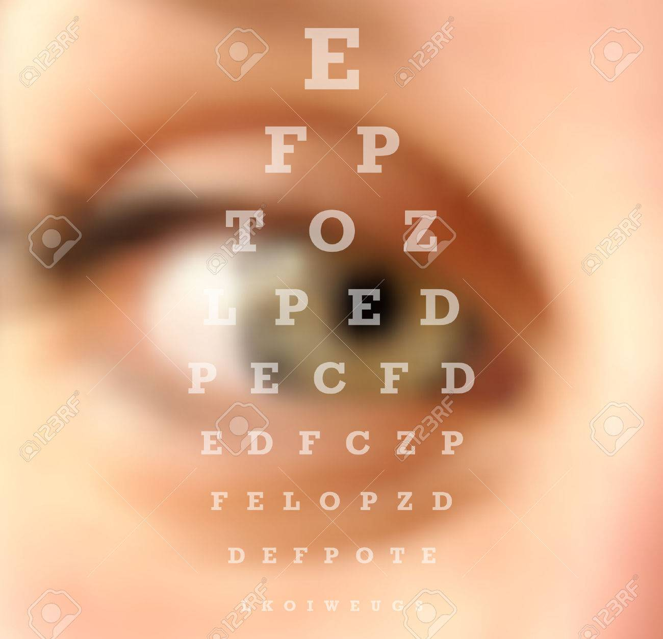Eye test vision chart close up blurred effect ophthalmology eye test vision chart close up blurred effect ophthalmology concept background vector file with geenschuldenfo Image collections