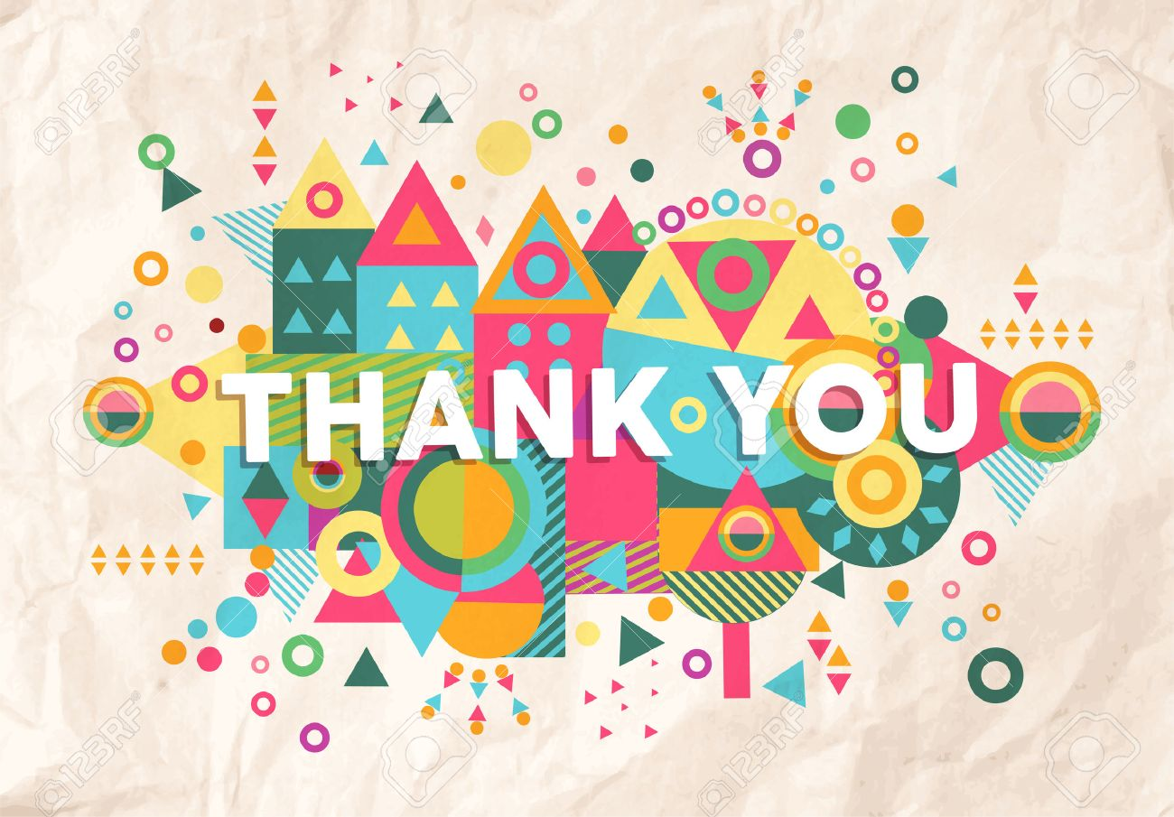 Thank you colorful typography poster inspiring motivation quote thank you colorful typography poster inspiring motivation quote background ideal for greeting card design kristyandbryce Choice Image