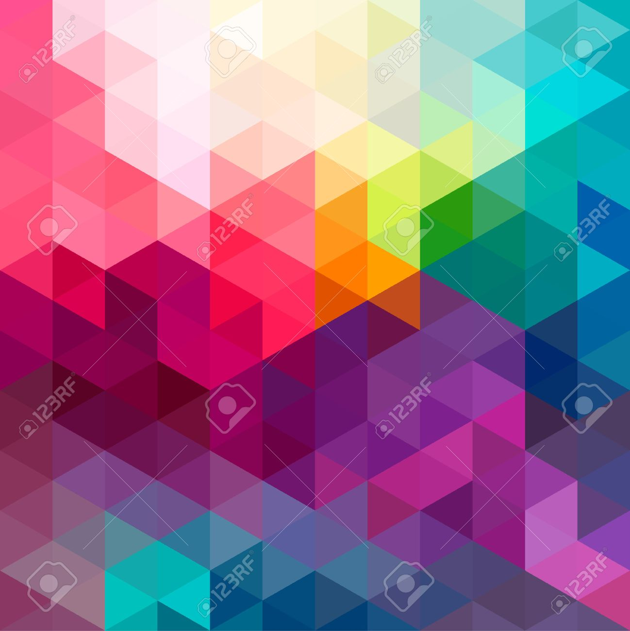 Abstract Colorful Geometric Pattern Seamless Background With ...