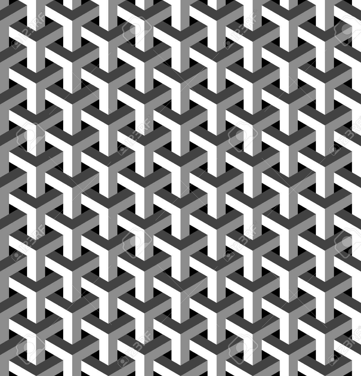 Buy Isometric Paper 41037238 Abstract Isometric 3d Seamless Pattern  Background Ideal For Fabric Design Wrapping Paper