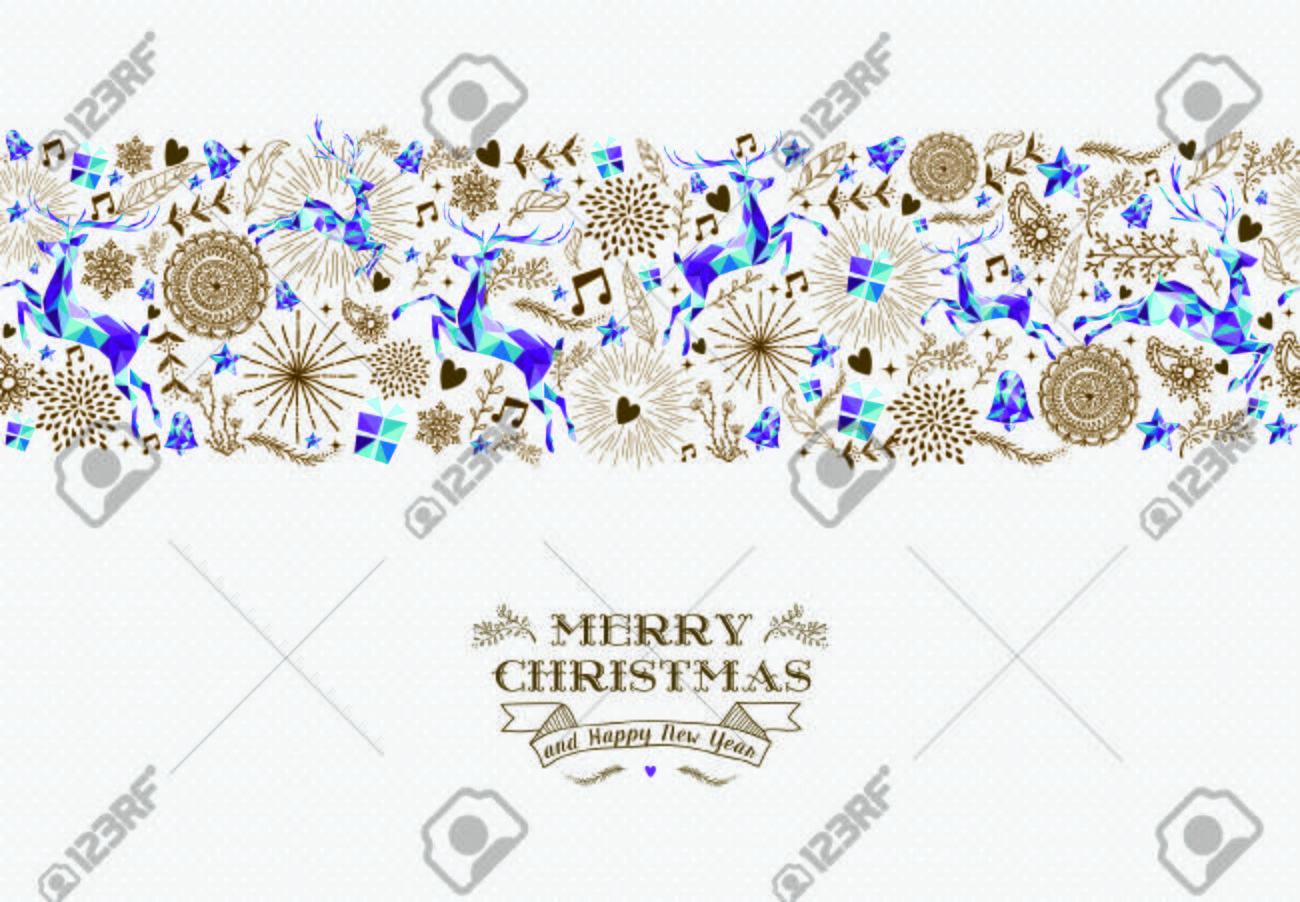 Feliz Navidad Y Feliz Año Nuevo Texto Con Diseño Sin Patrón ...