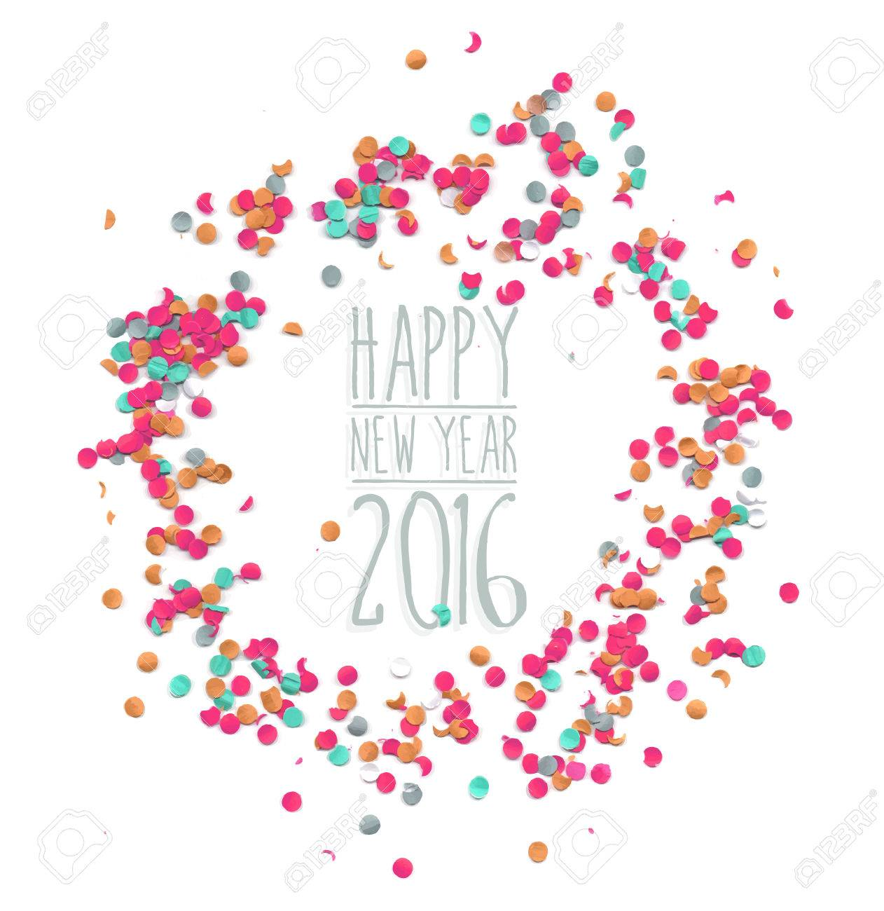 happy new year celebration 2016 party confetti template happy new year celebration 2016 party confetti template background ideal for holiday greeting card