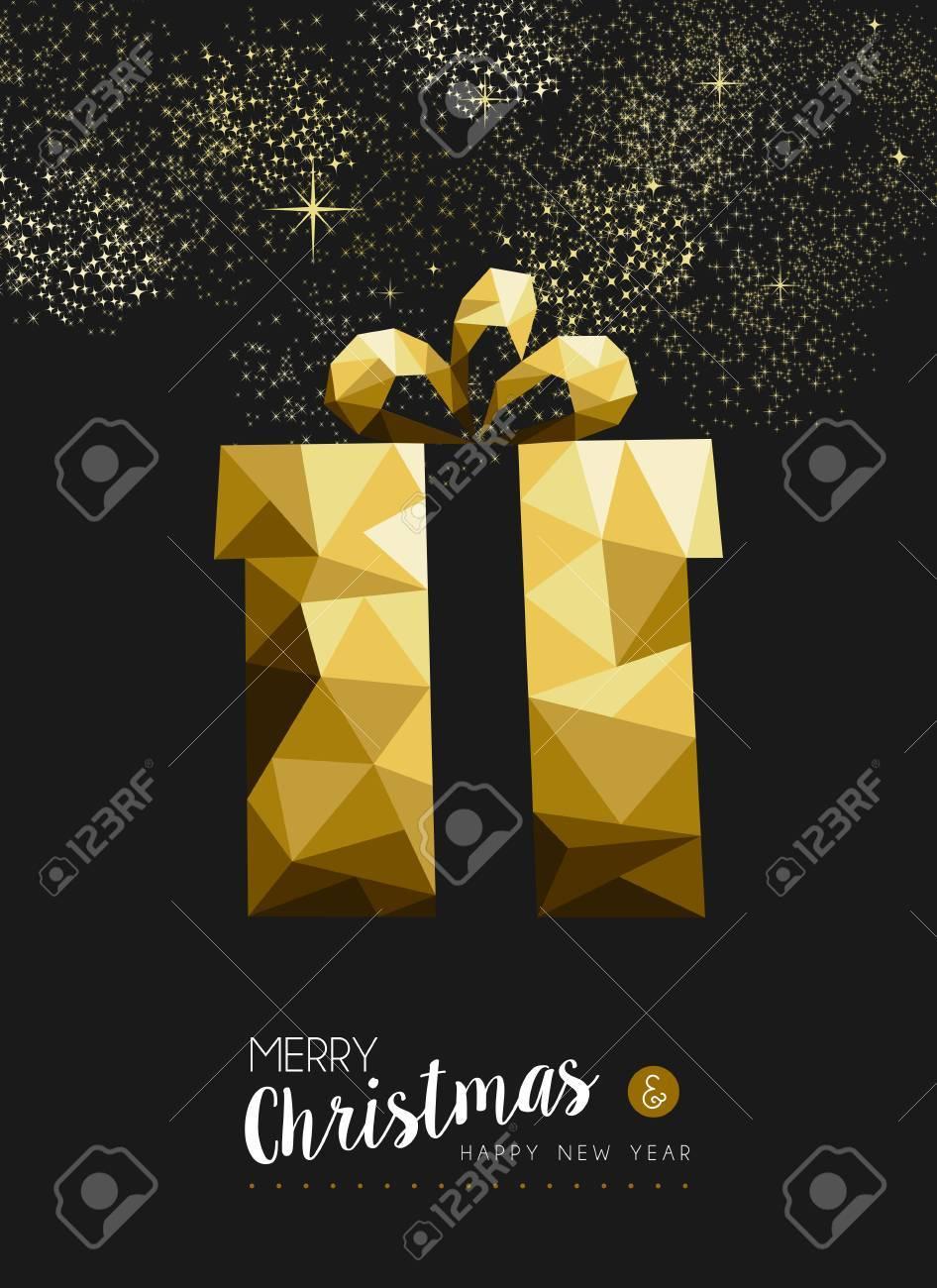 Frohe Weihnachten Und Glückliches Neues Jahr Extravaganten Gold ...