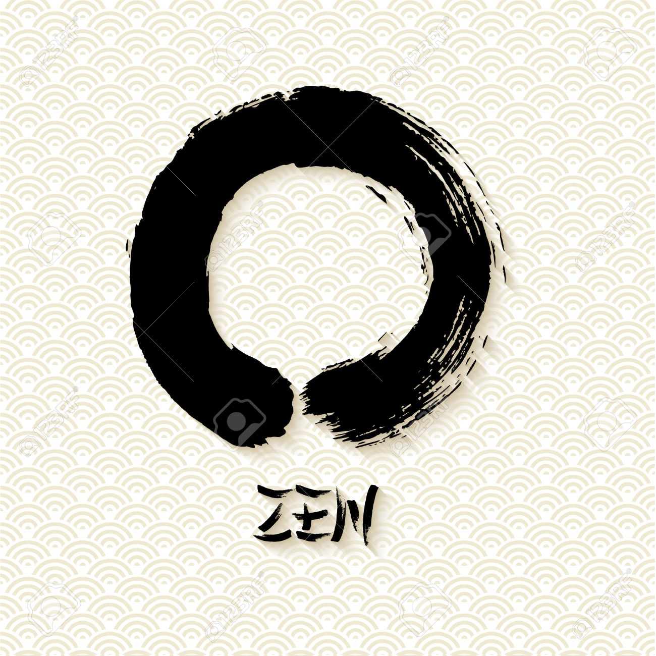 Enso zen circle illustration in traditional hand drawn brush enso zen circle illustration in traditional hand drawn brush stroke style meditation symbol of buddhism biocorpaavc