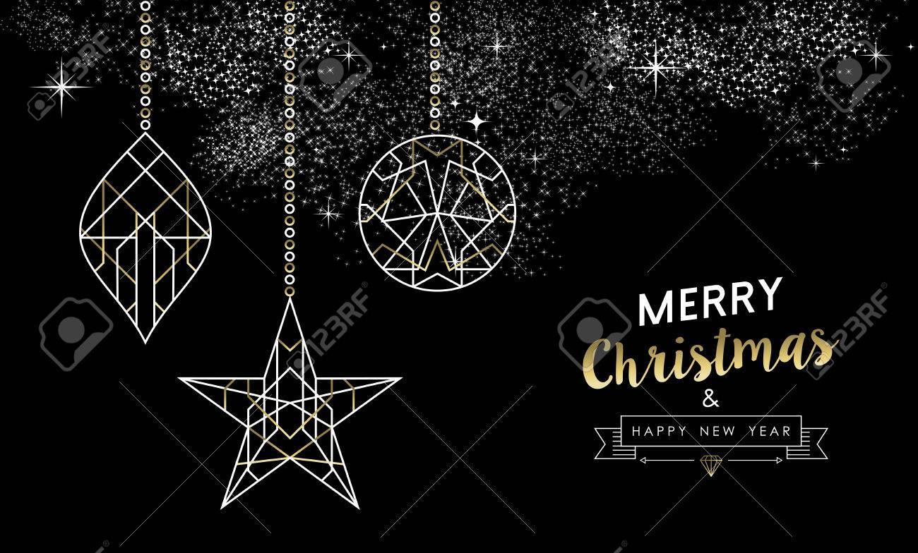 Joyeux Noël Happy New Year Design De Carte De Voeux: Noël