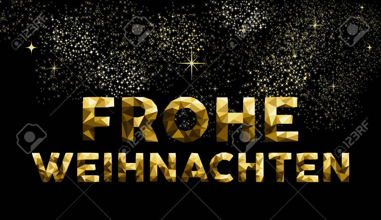 Merry christmas greeting card in german language frohe weihnachten merry christmas greeting card in german language frohe weihnachten gold low poly style ideal m4hsunfo