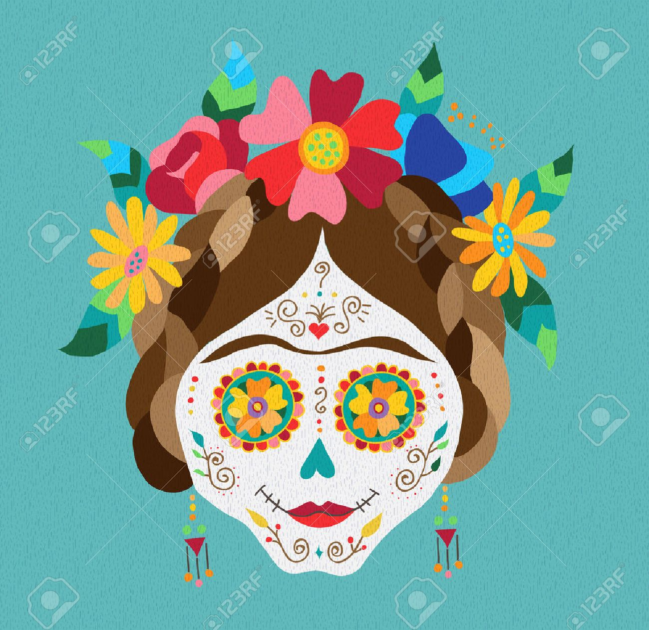 14,804 Day Of The Dead Cliparts, Stock Vector And Royalty Free Day