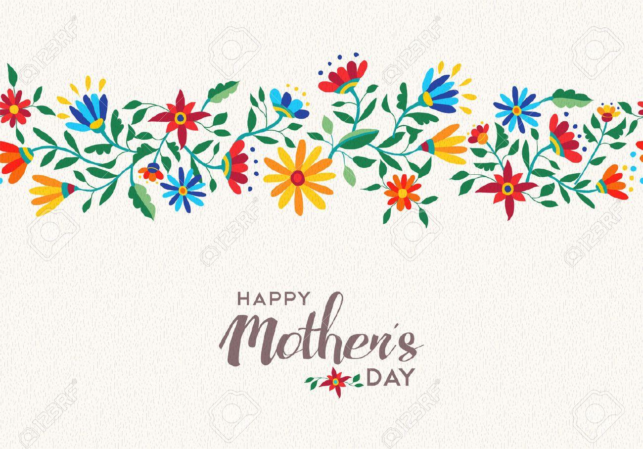 Cotizaciones Diseño Elegante Feliz Día De Las Madres Con El Fondo ...