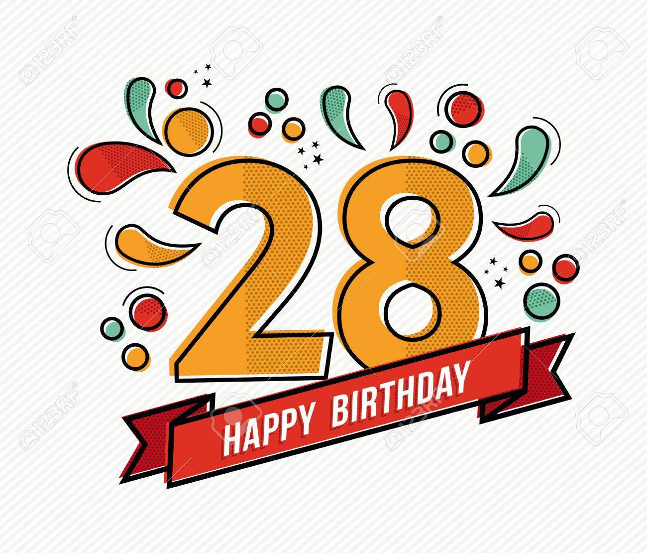Gluckwunschkarte Mit Hund Zum 28 Geburtstag Geburtstagsspruche Welt