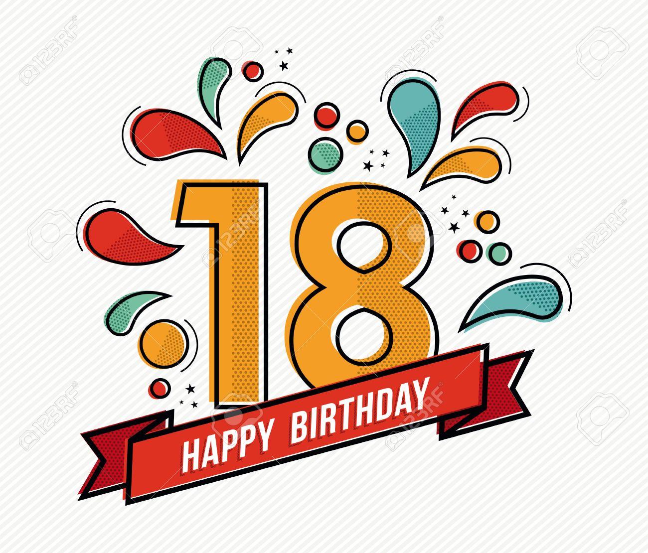 Wohnung Form 18 Zahl Symbol Geburtstag Kerzen Kuchen Icon