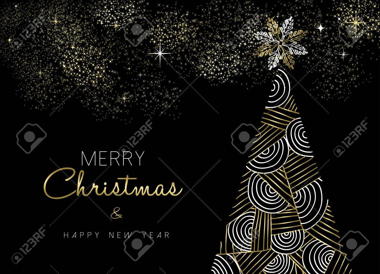 Joyeux Noël Et Nouvel An Conception Or Pin Carte De Voeux En Ligne