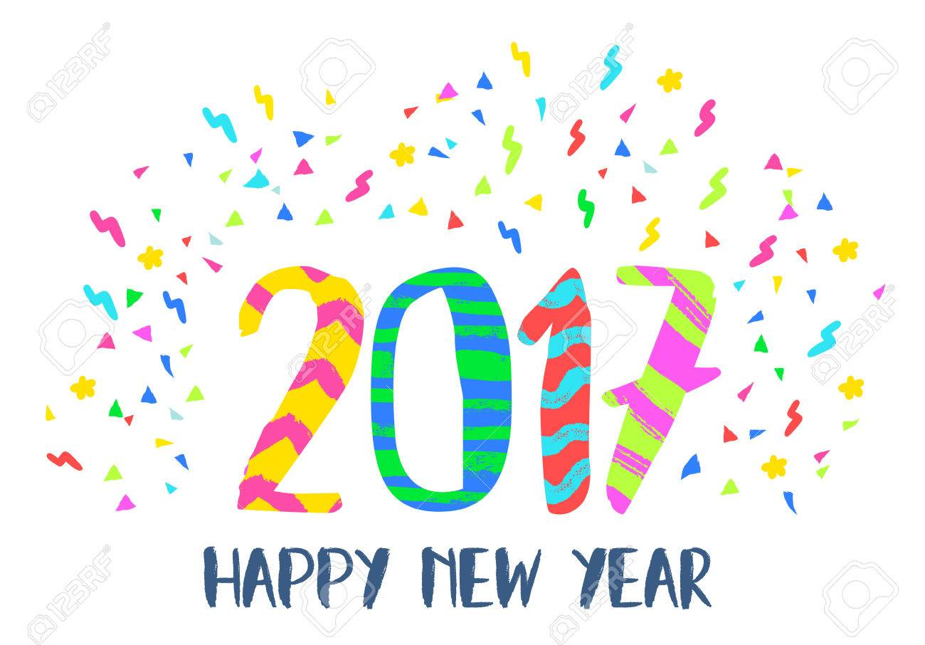 Happy New Year Lettering Design 52