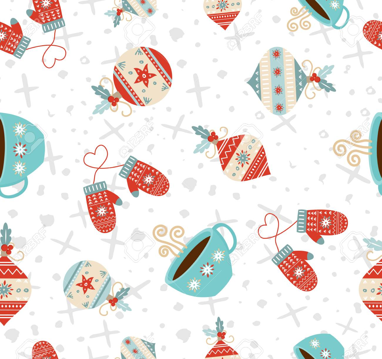 Christmas Backgrounds Cute.Merry Christmas Seamless Pattern Background Cute Holiday Decoration