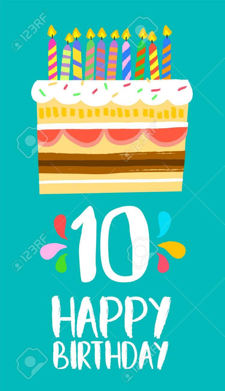 Numero Joyeux Anniversaire 10 Carte De Voeux Pour Dix Ans Dans Un