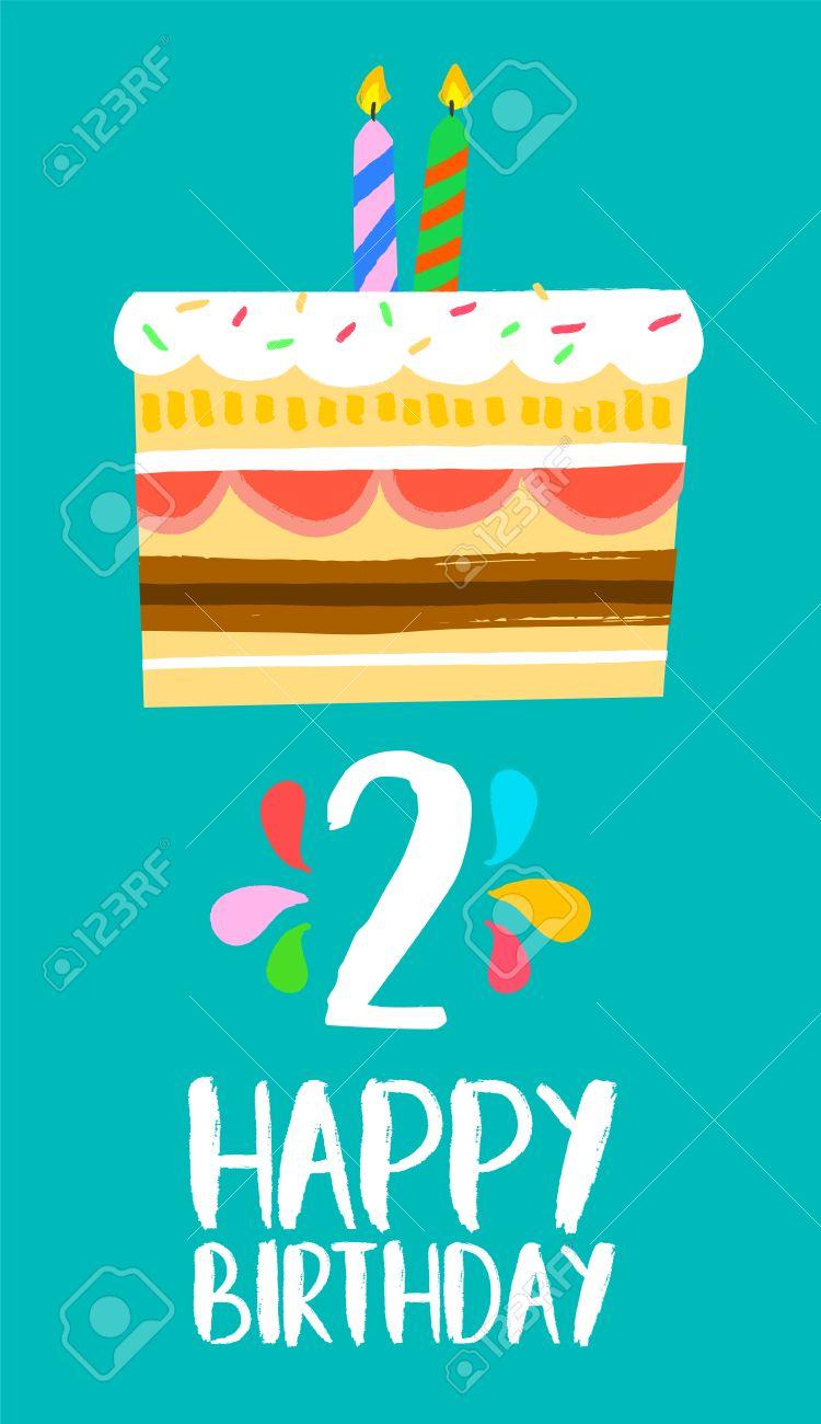 Alles Gute Zum Geburtstag Nummer 2 Grusskarte Fur 2 Jahre In Spass