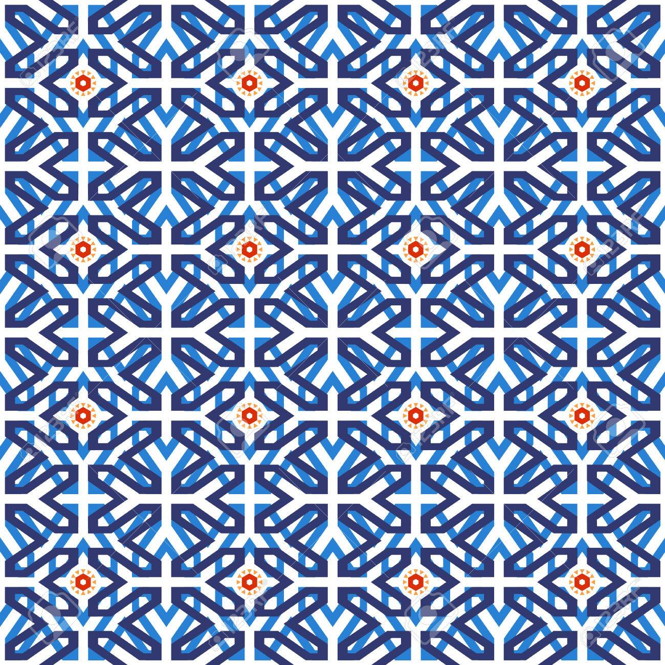 Traditional Arabic Ceramic Mosaic Tile Seamless Pattern Based ...
