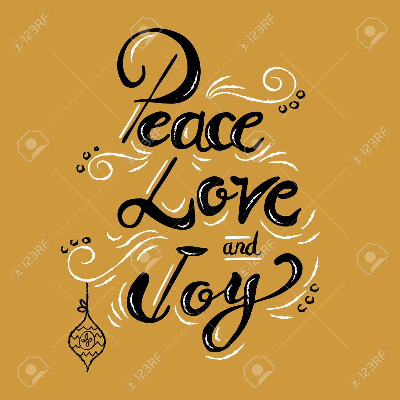 Peace Love Joy Quotes Peace Love And Joy Christmas Calligraphy Quote Lettering Text