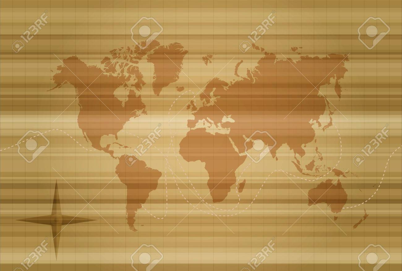 Concept world map illustration silhouette on vintage style texture concept world map illustration silhouette on vintage style texture background eps10 vector stock vector gumiabroncs Choice Image