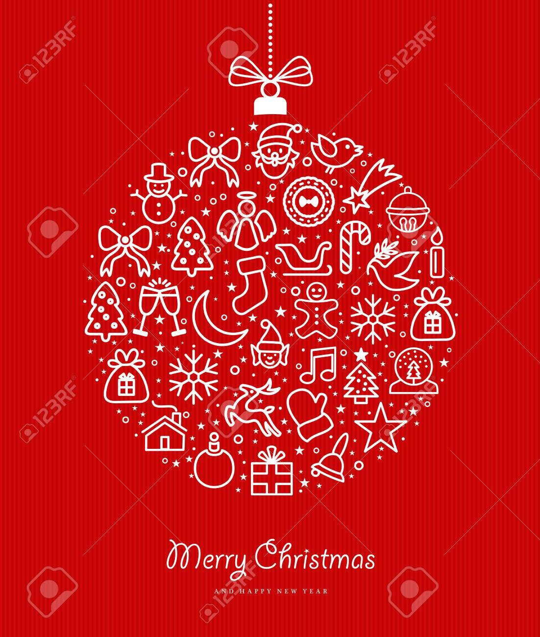 Joyeux Noël Et Bonne Année Carte De Voeux Design Avec Illustration