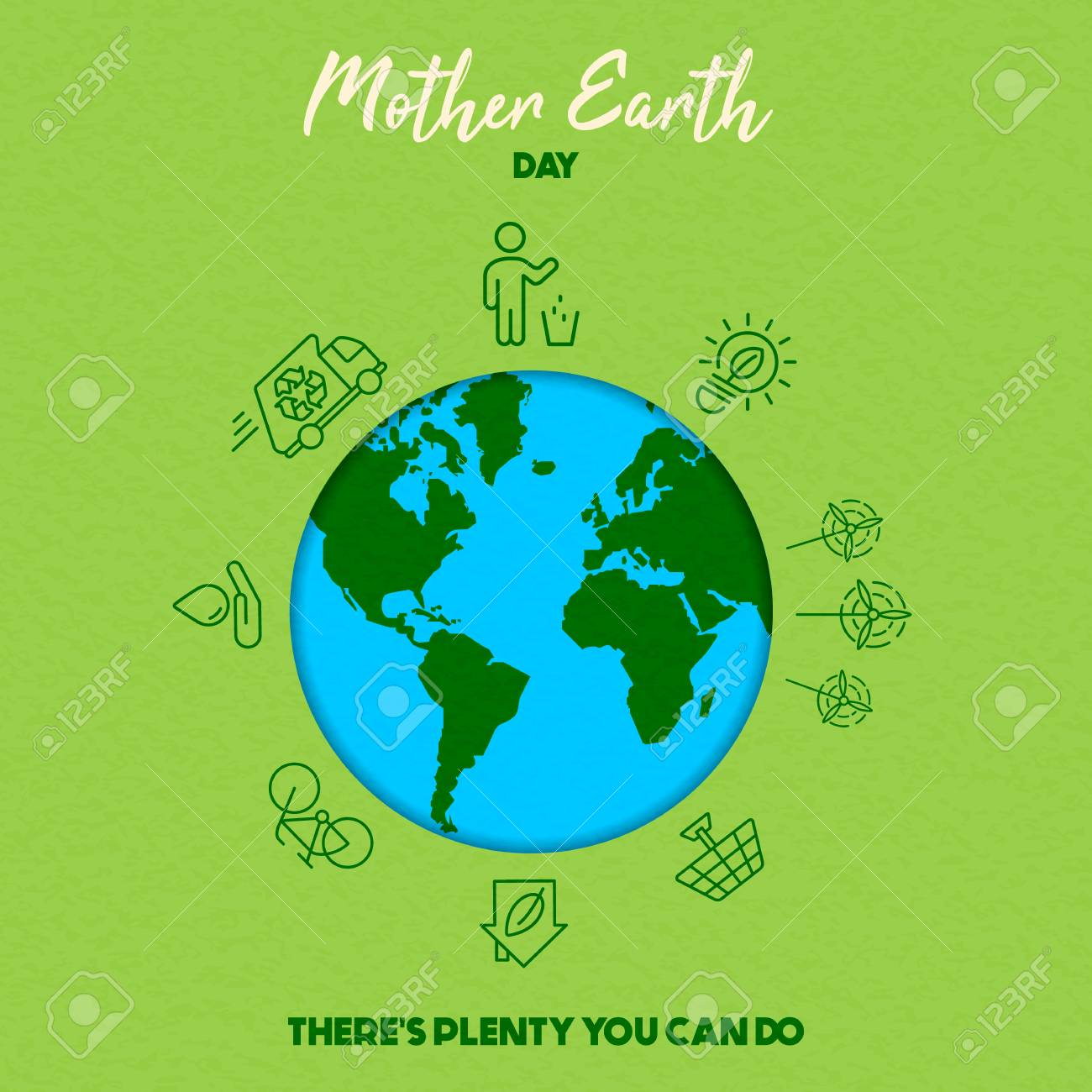 International Earth Day illustration. Save the world concept for eco friendly activities and social environment awareness. - 119655866