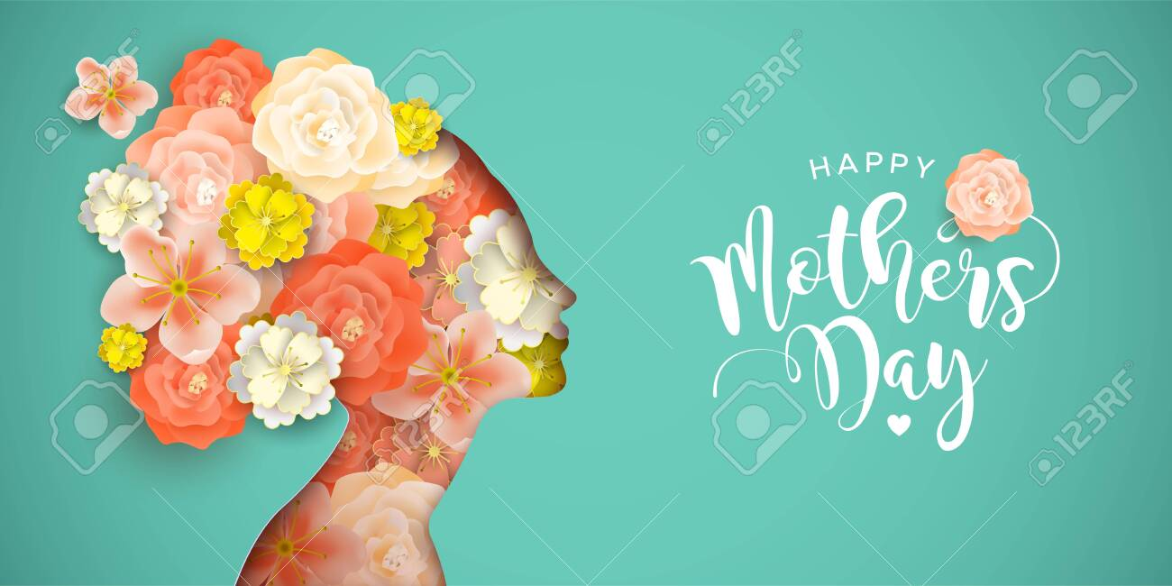 Happy Mothers Day Greeting Card Of Beautiful Spring Flowers Inside
