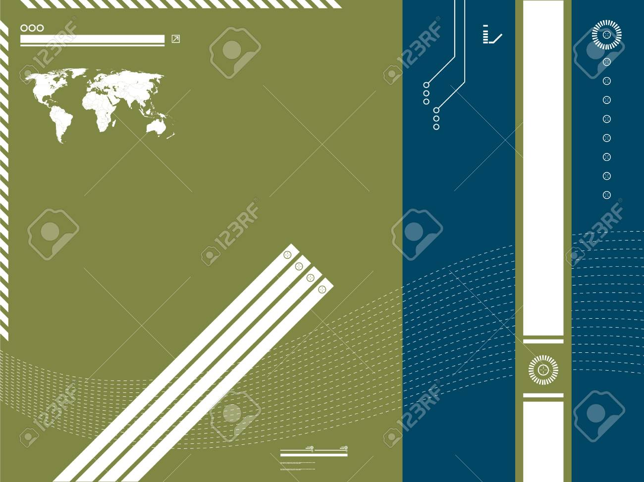 technology template and background blue and green Stock Vector - 7233687