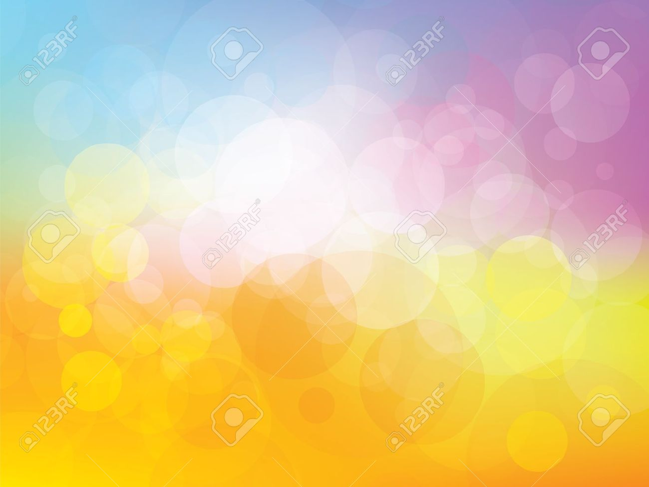 background with fresh colors and fun childhood royalty free cliparts