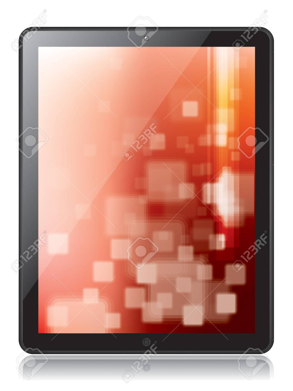 Digital tablet in illustration Stock Vector - 17729230