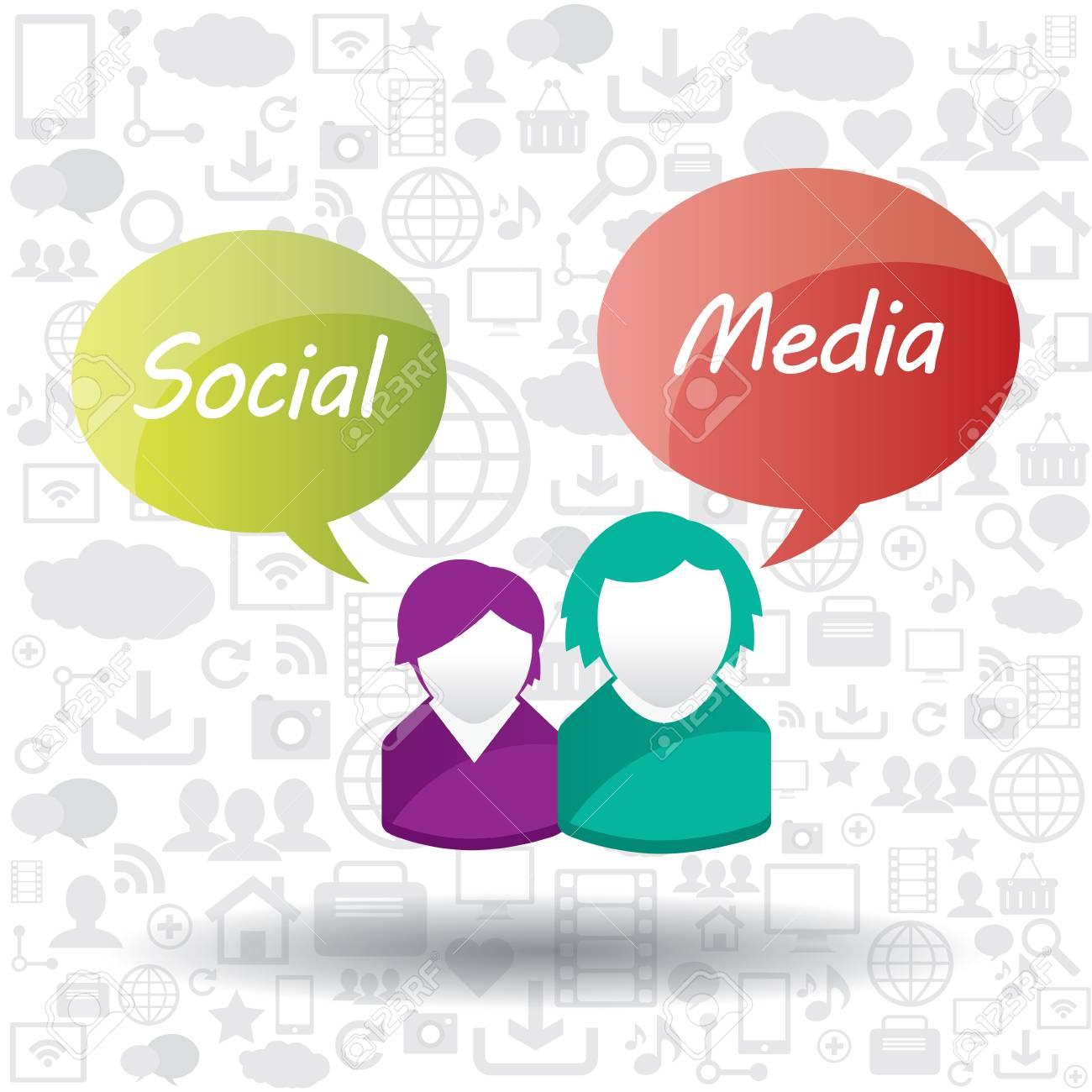 Social media concept in multimedia Stock Vector - 17729219