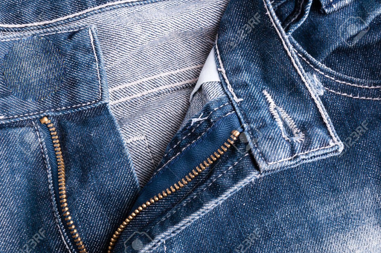 Pants Jeans Fabric With Open Zipper Stock Photo Picture And Royalty