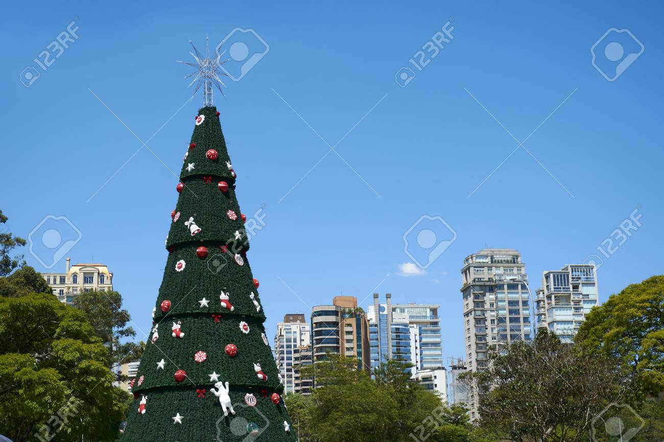 sao paulo brazil december 6 2016traditional christmas tree in ibirapuera - Christmas Traditions In Brazil