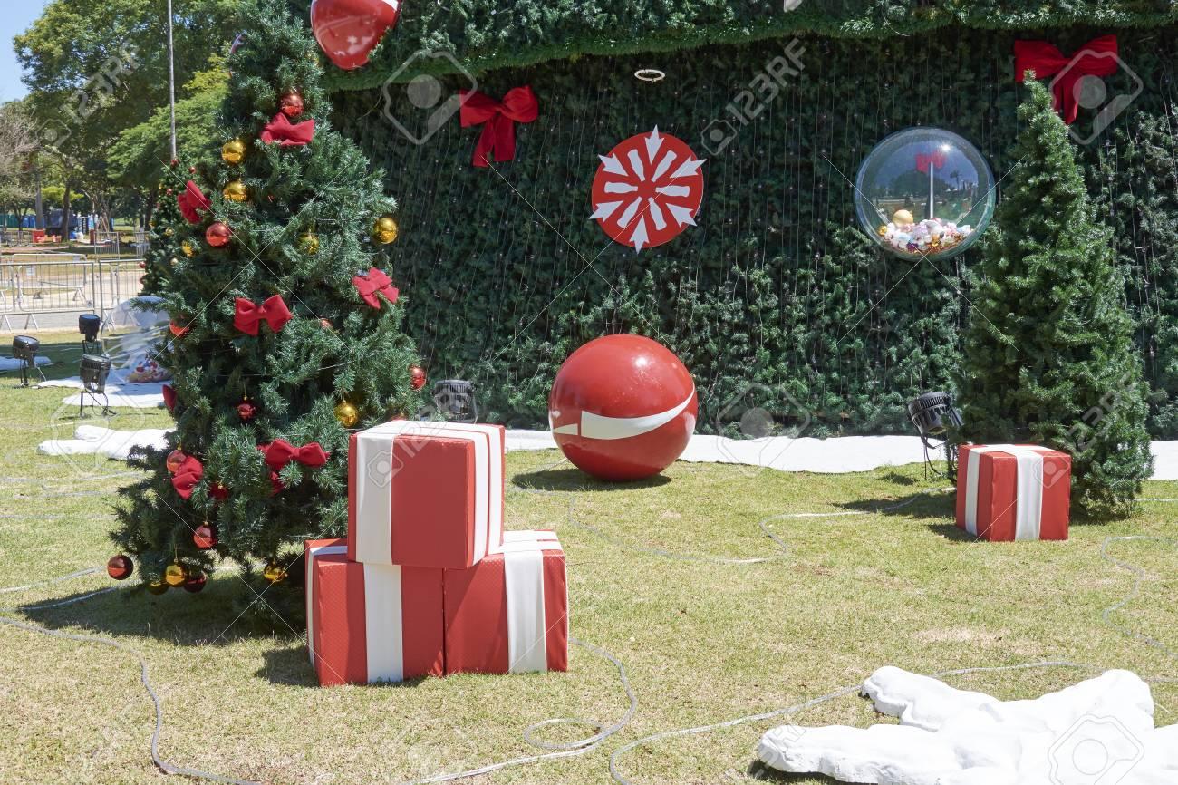 Fotos De Navidad En Brasil.Rbol De Navidad En Ibirapuera Ciudad De Sao Paulo En Brasil