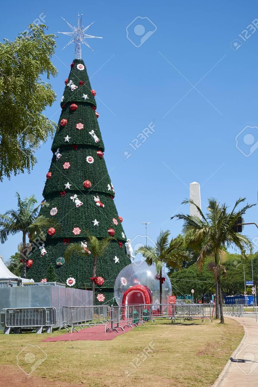 Albero Di Natale 6 Mt.Sao Paulo Brasile 6 Dicembre 2016 Tradizionale Albero Di Natale In Ibirapuera Essendo Il 15 Anno Di Attrazione Nella Zona Sud Della Citta Di