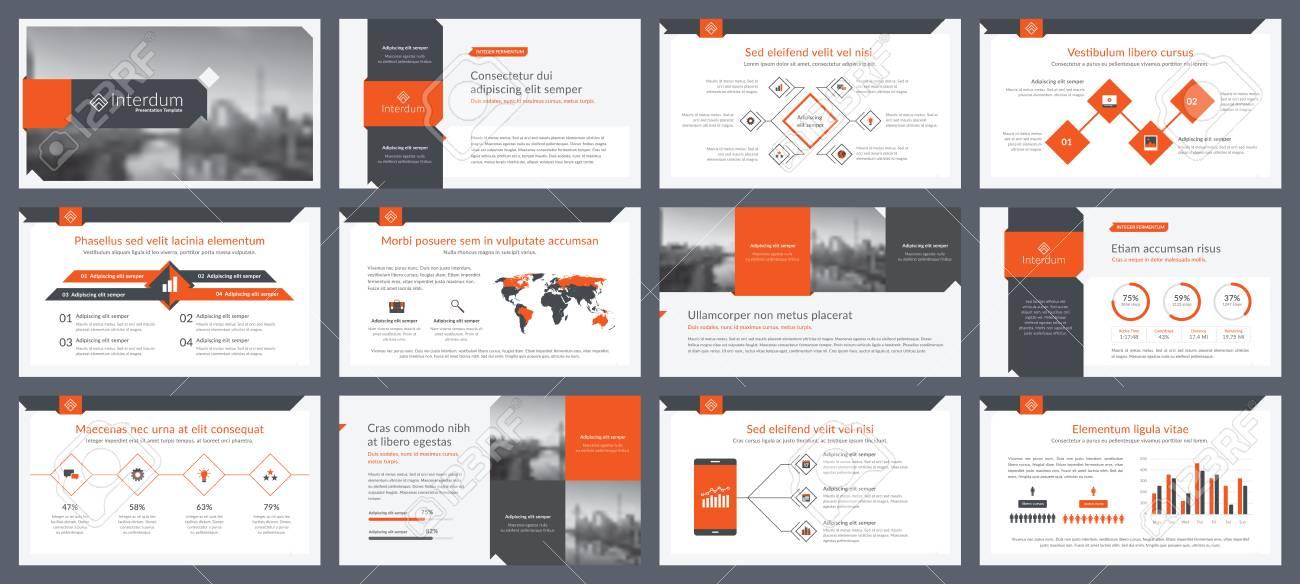 elementos de infografías para plantillas de presentaciones informe