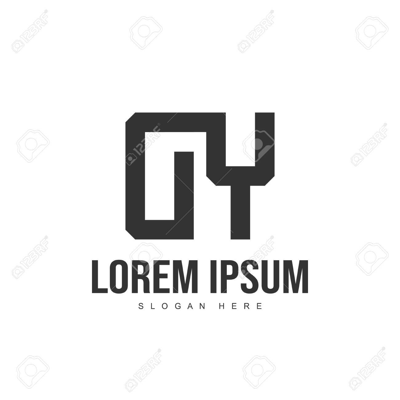 DY Letter logo design. Initial letter logo template design - 128715685