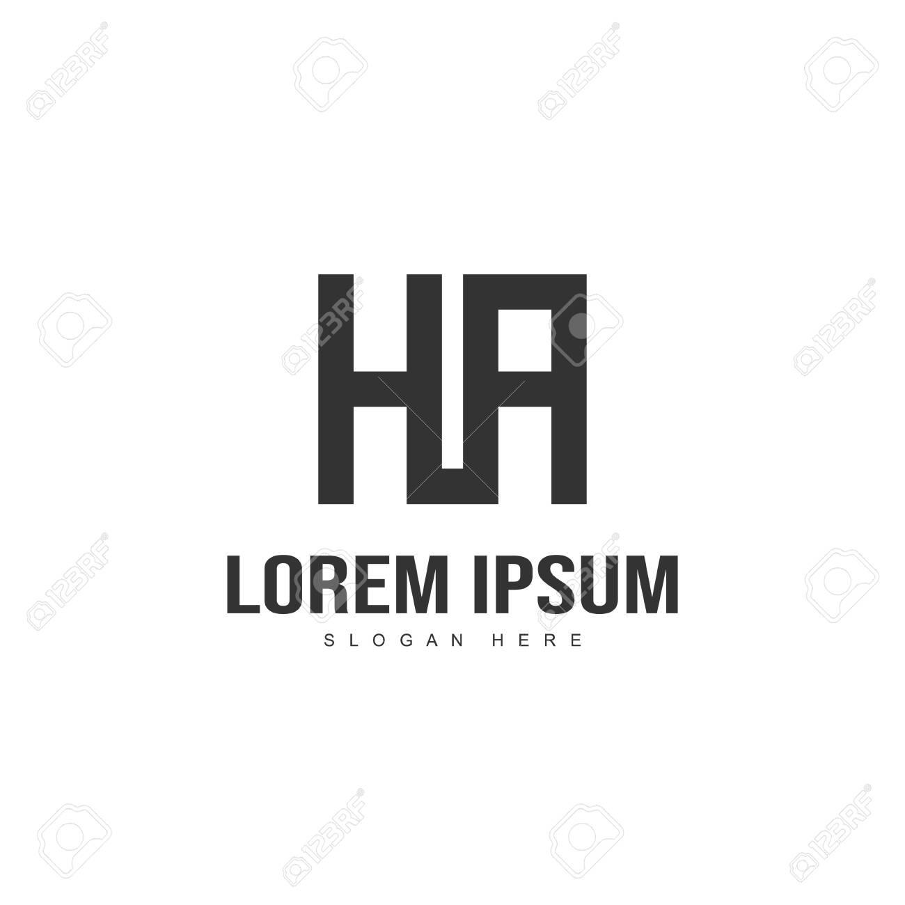 Initial letter logo design. Minimal letter logo template design - 128718582