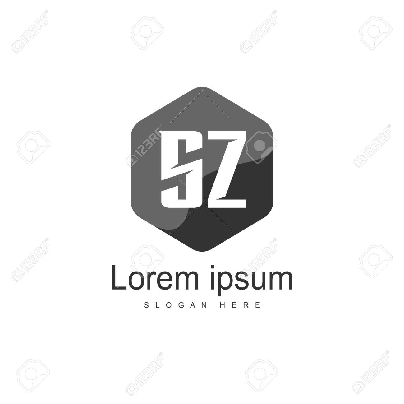 Initial letter SZ Logo Template. Minimalist letter logo design - 128719754