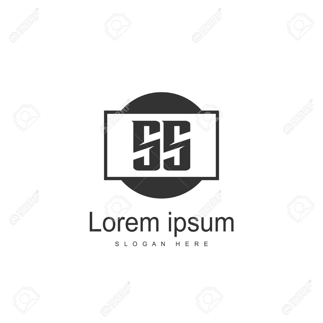 Initial letter SS Logo Template. Minimalist letter logo design - 128719970