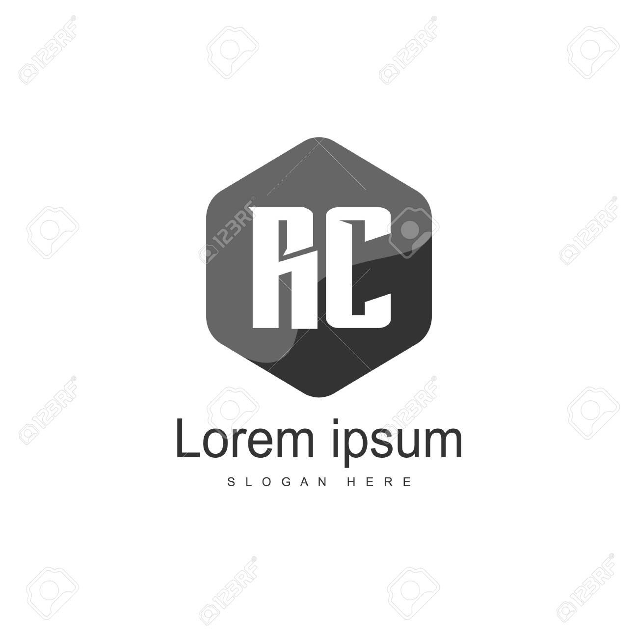 RC Logo template design. Initial letter logo template design - 128775325