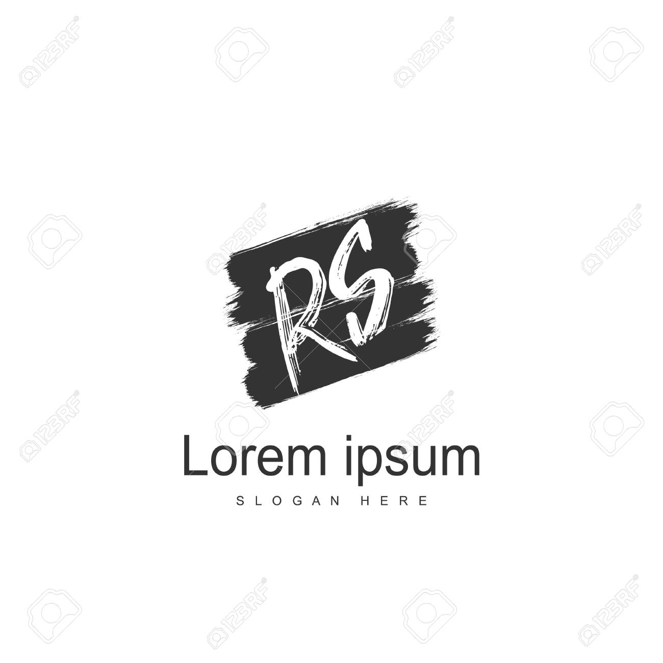 Initial RS Logo Template. Minimalist letter logo template design - 128774878