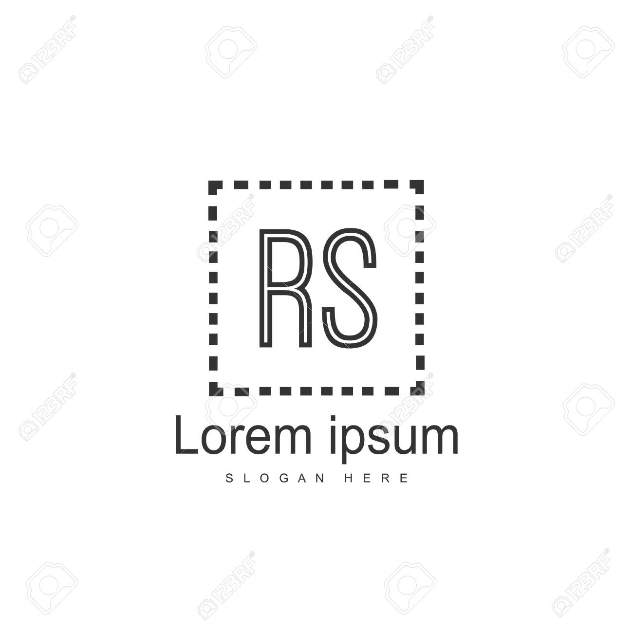 Initial RS Logo Template. Minimalist letter logo template design - 128776862
