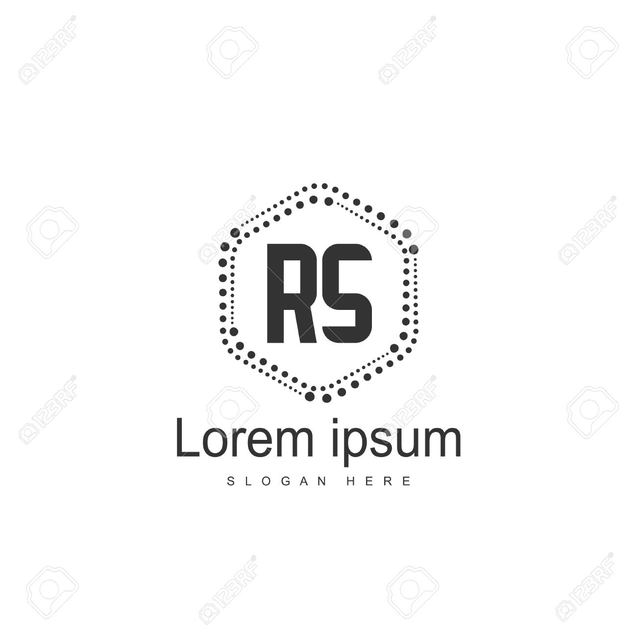Initial RS Logo Template. Minimalist letter logo template design - 128777796