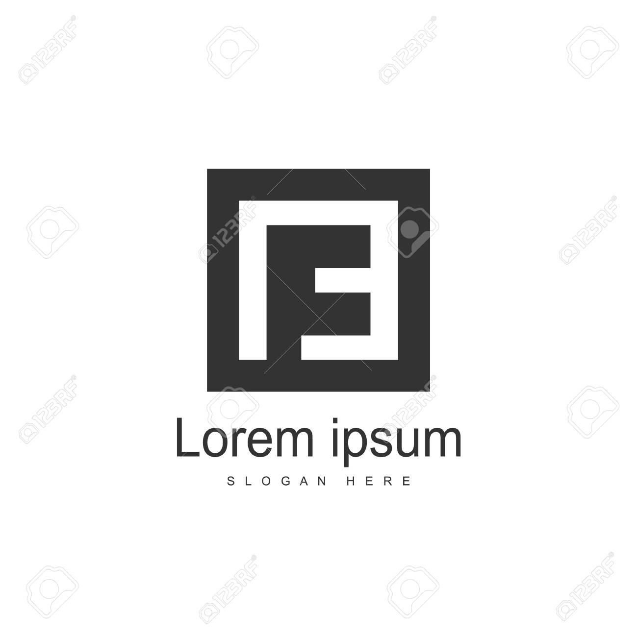 Initial Letter NE Logo Template Vector Design - 128826703
