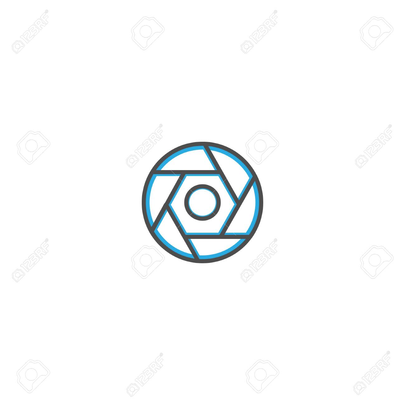 Shutter Icon Design Photography And Video Icon Line Vector Illustration