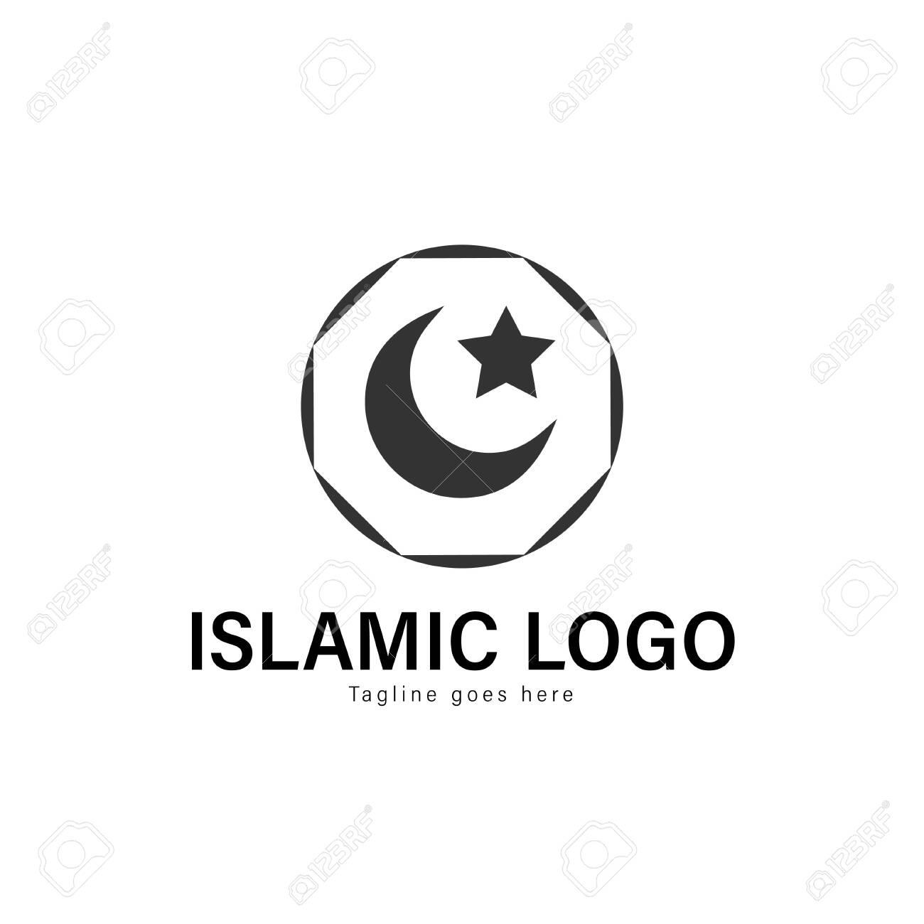 Islamic logo template design  Islamic logo with modern frame