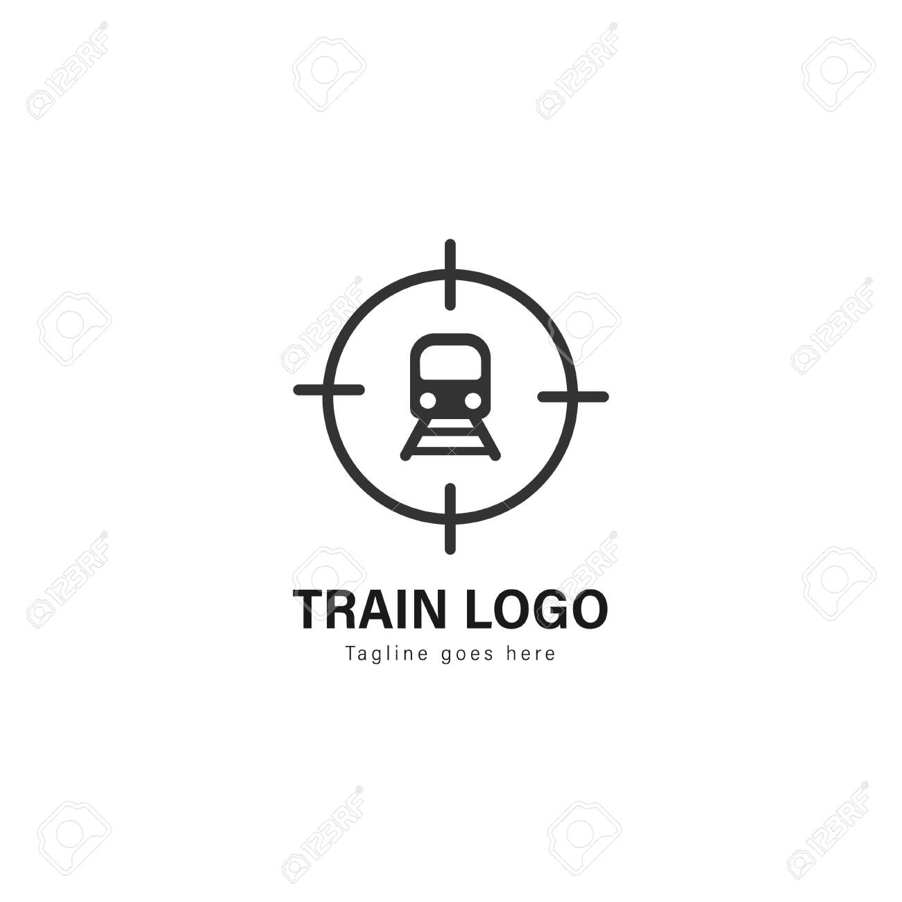 Train Logo Template Design Train Logo With Modern Frame Isolated