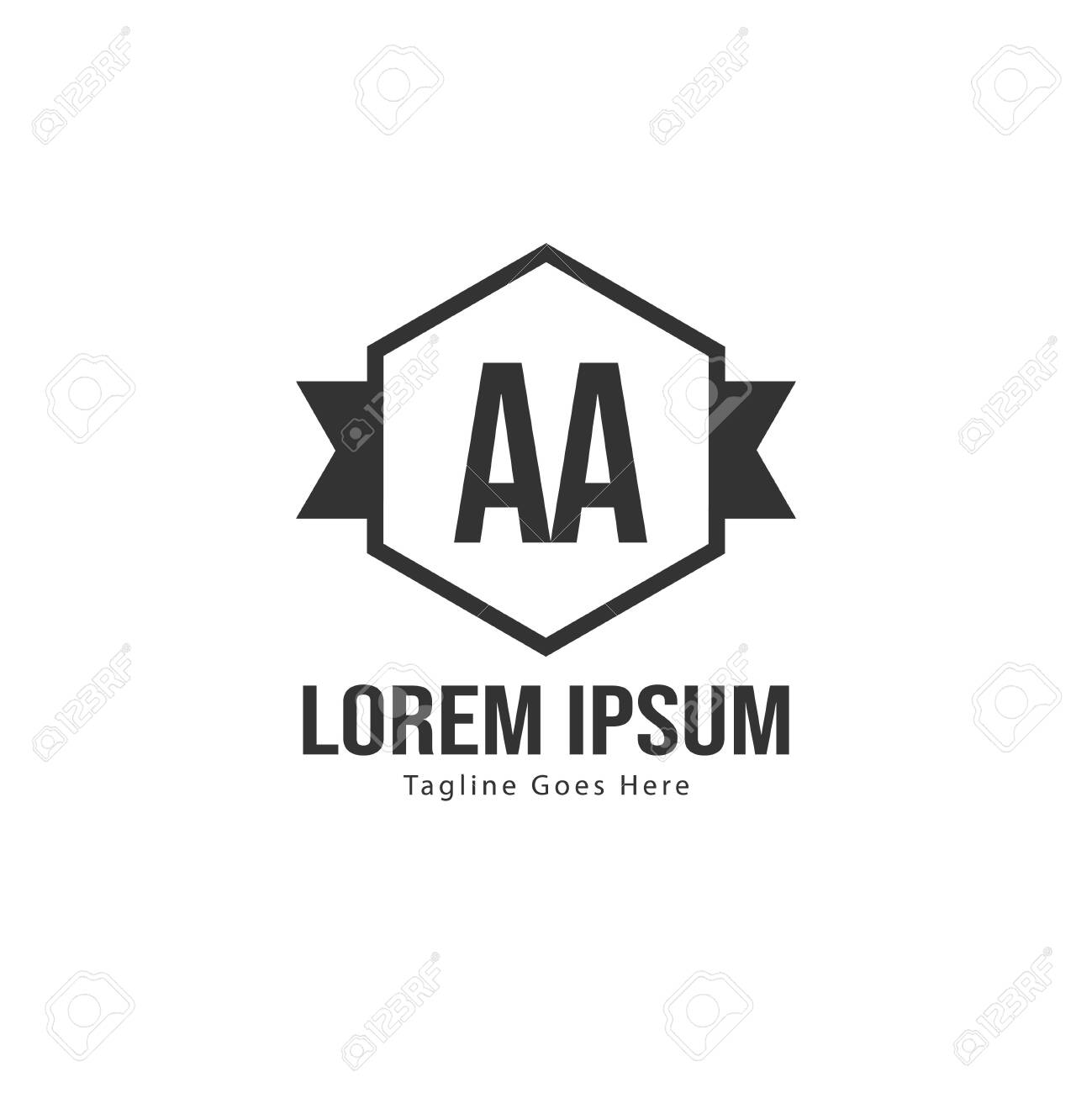 Aa Letter Logo Design Creative Modern Aa Letters Icon Illustration