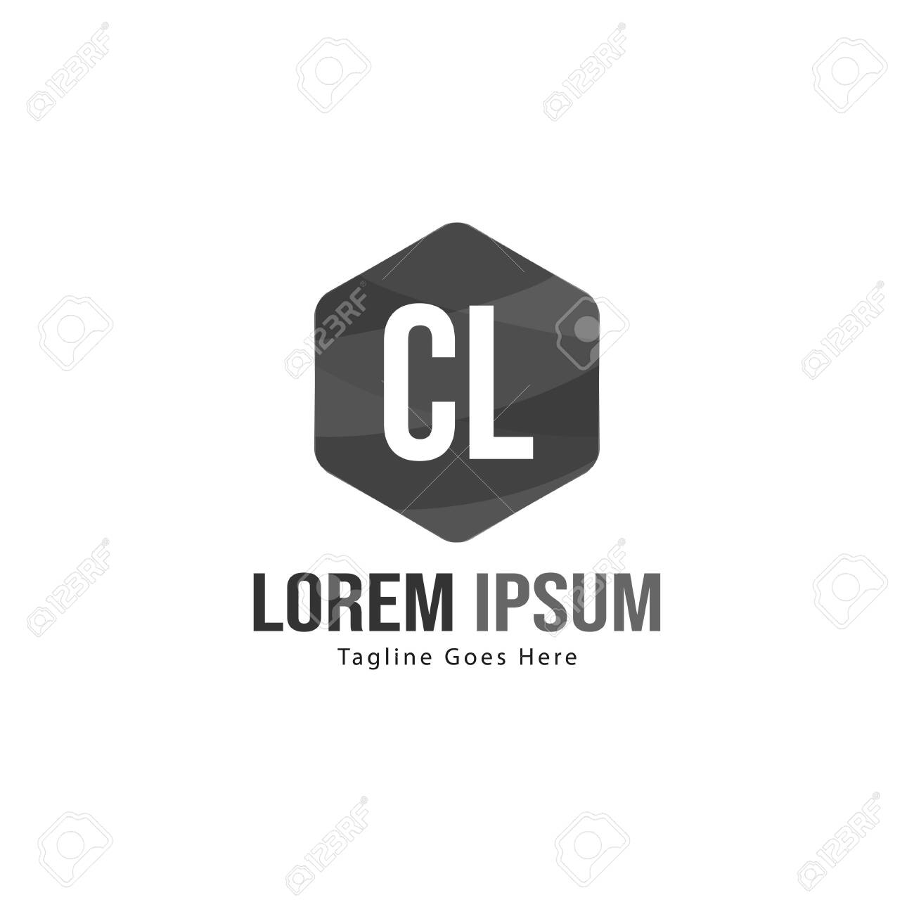 Initial CL logo template with modern frame. Minimalist CL letter logo vector illustration - 129275880