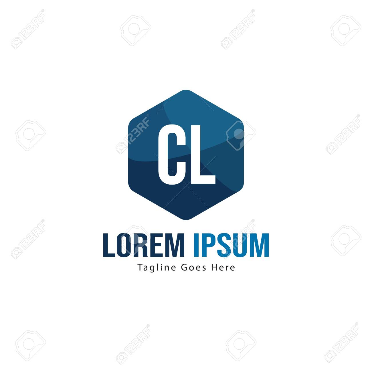 Initial CL logo template with modern frame. Minimalist CL letter logo vector illustration - 129418170