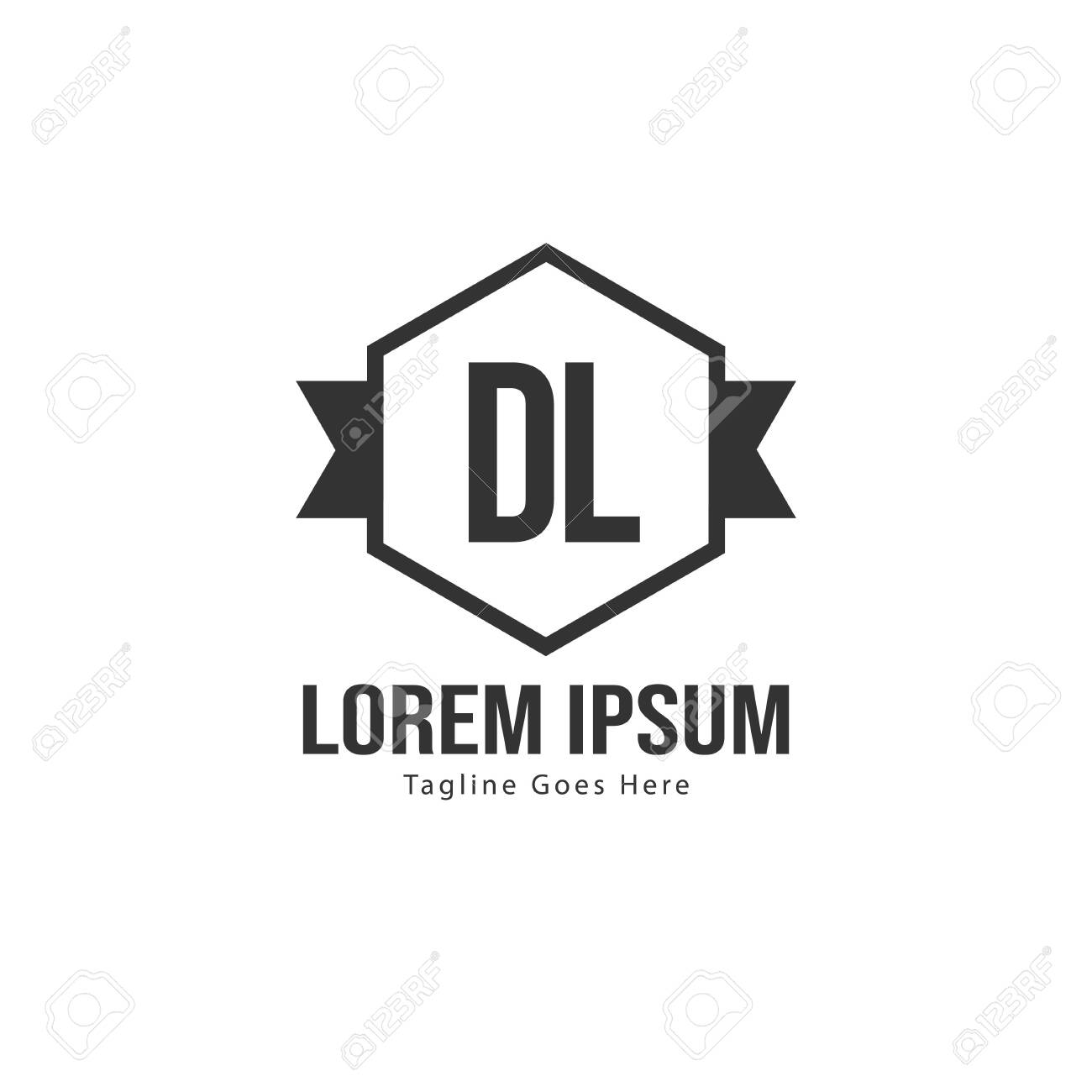 Initial Dl Logo Template With Modern Frame Minimalist Dl Letter Royalty Free Cliparts Vectors And Stock Illustration Image 129891419